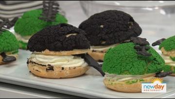 Halloween Cream Puffs and Craquelin, a sweet centerpiece for your seasonal spooktacular