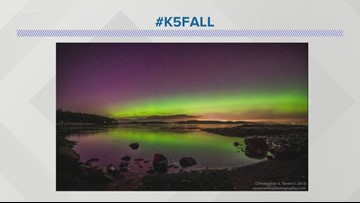 Northern Lights viewable in Washington on Wednesday