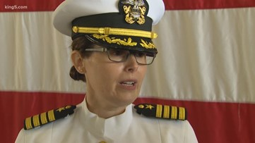 1st female captain takes command at Puget Sound Naval Shipyard