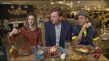 Wed 11/14, Waffle Stop in Tacoma, Full Episode KING 5 Evening