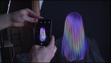 Tacoma stylist gives clients' hair every color of the rainbow