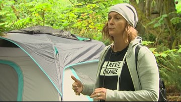 Port Angeles woman goes the extra mile to help the homeless