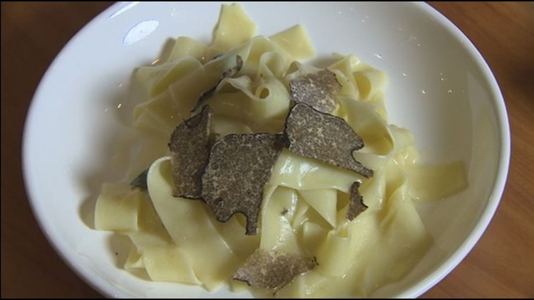 Truffles with sage butter pasta from Capers+Olives