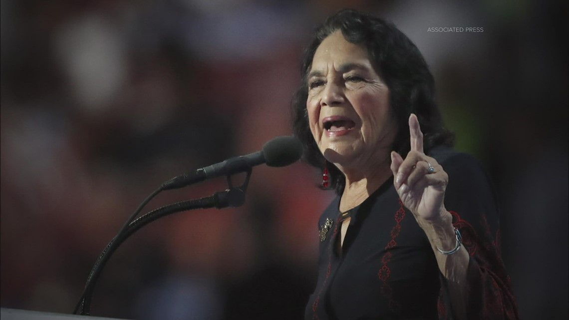 Civil rights icon Dolores Huerta still a force for labor, women's rights
