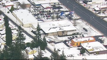 Everett Auto Zone roof collapses after snowfall