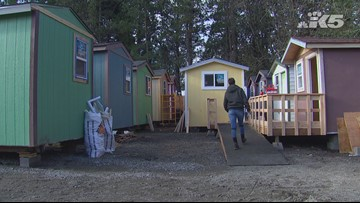 A look at Olympia's tiny home village for the homeless