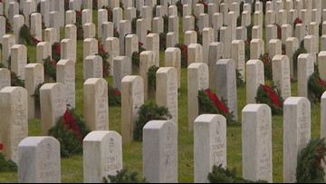 Washington cemeteries honor veterans with Wreaths Across America
