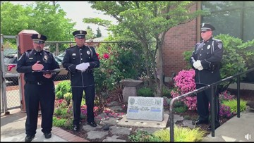 Fallen Kent officer's name added to memorial stone