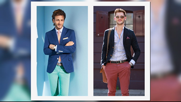 Men, here's how to put more color in your wardrobe