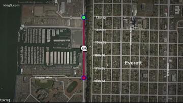 Major thoroughfare in Everett closes for bridge construction