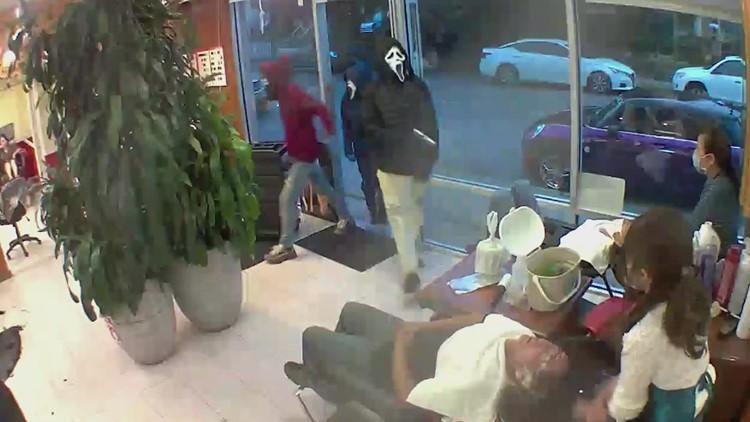 Suspects in Scream masks rob busy Seattle hair salon at gunpoint