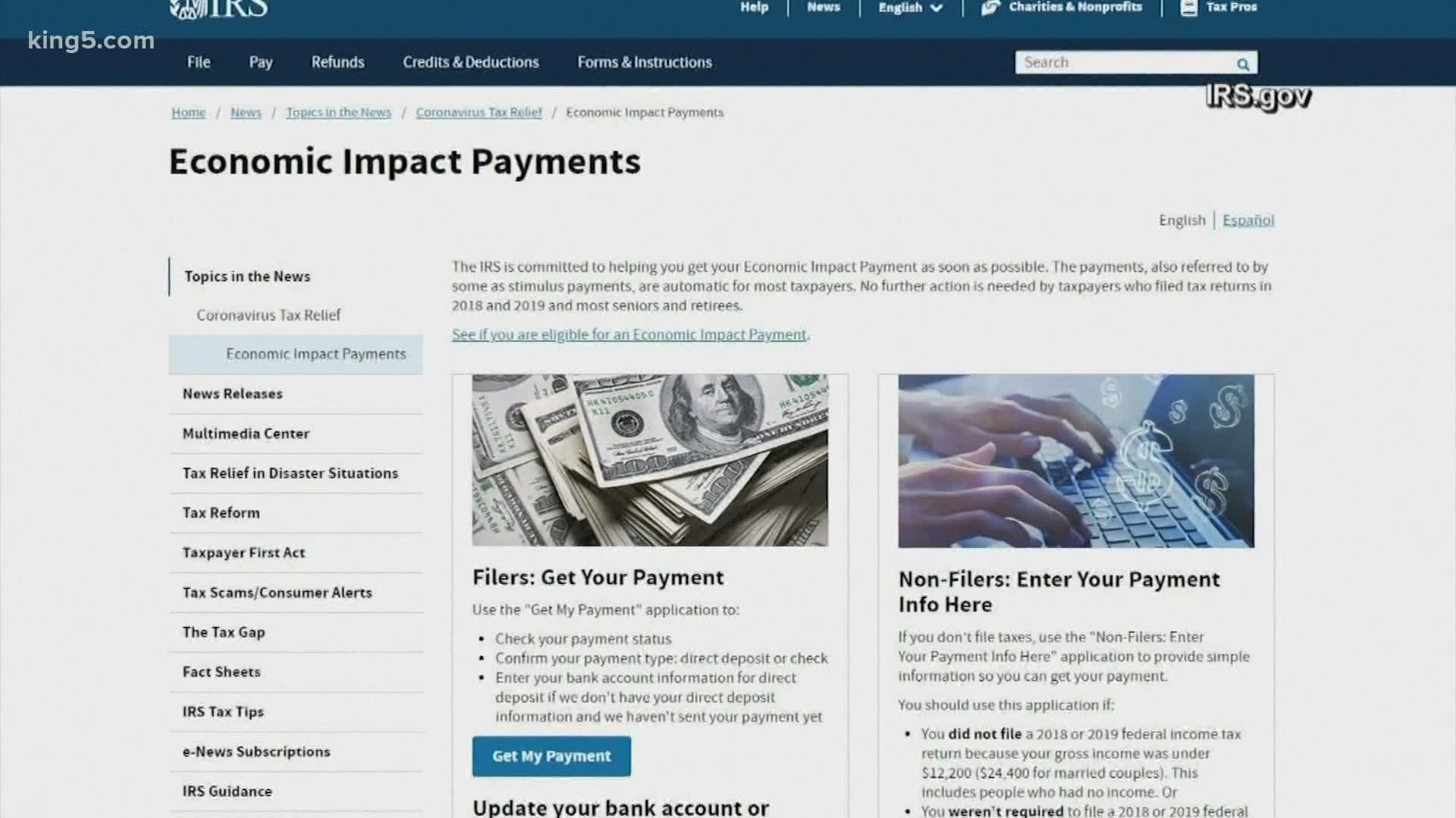 Deadline for stimulus check direct deposit is Wednesday ...