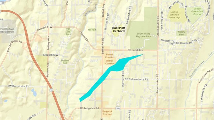 port orchard tornado path map