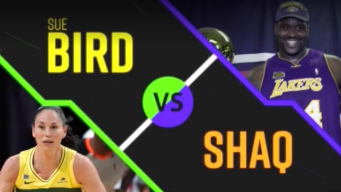 Sue Bird vs. Shaq?
