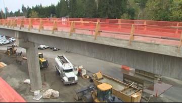 East Link light rail construction halfway done
