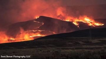Benton County wildfire burns nearly 42,000 acres near Rattlesnake Mountain
