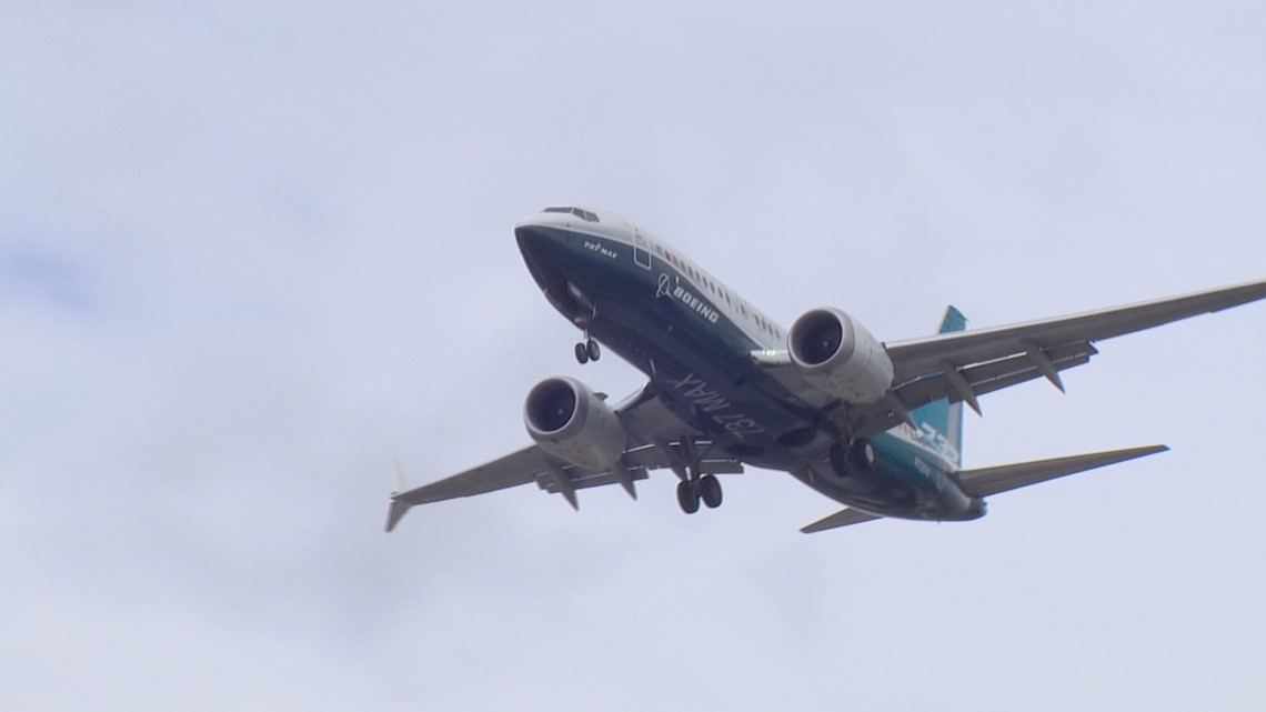 Boeing CEO takes 737 MAX test flight over Seattle