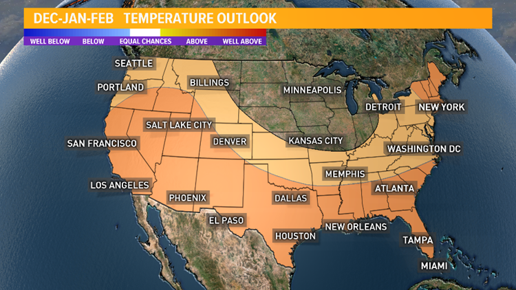 Winter Outlook for temperatures