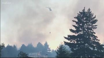 Level 3 fire evacuations in Union, Washington