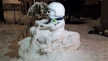 Snow Sculptures are out of this world all around the Sound