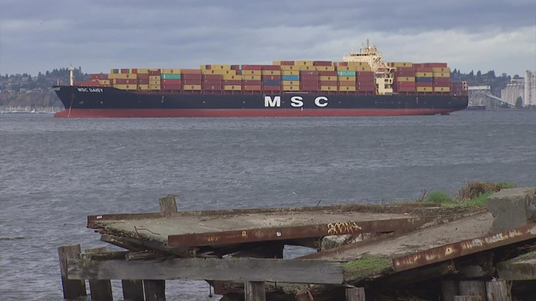 Ship that lost 40 containers near Strait of Juan de Fuca a potential wake-up call
