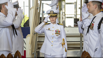 The Navy's first woman commander takes over in Bremerton
