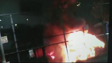 Surveillance video of attack at Northwest Detention Center