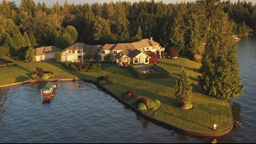 This Snag Island mansion is lakeside-livin' at its finest