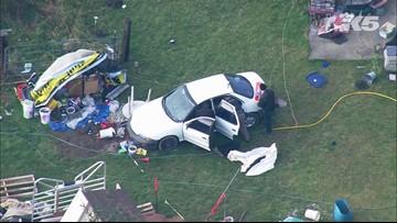 Aerials of Port Angeles suspicious death investigation