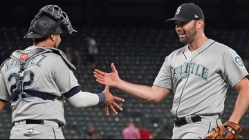 Mariners score twice in ninth inning, beat Rangers 5-3