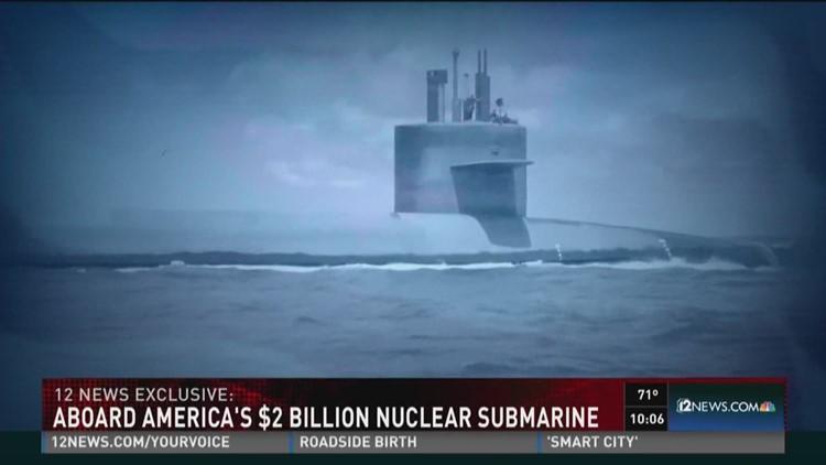 Aboard the $2 billion nuclear submarine, the U S S  Kentucky