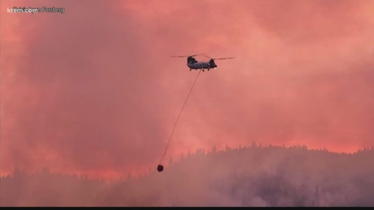 3 fires burning more than 45,000 acres in central, eastern Washington