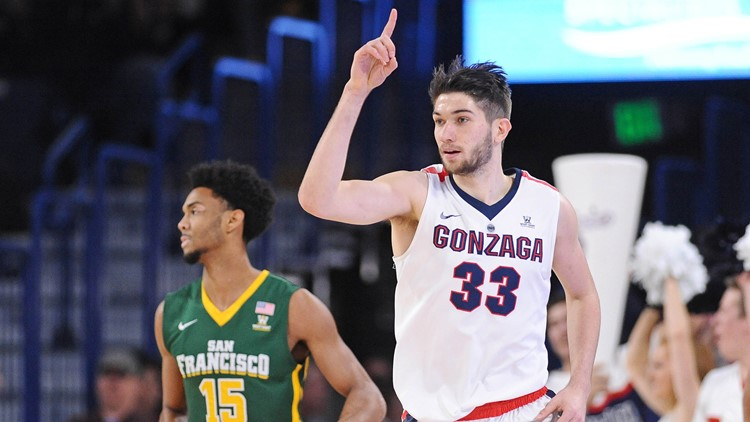 Killian Tillie to stay at Gonzaga for junior year
