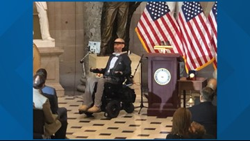 'The problems we face are our opportunity': Spokane native Steve Gleason receives Congressional Gold Medal