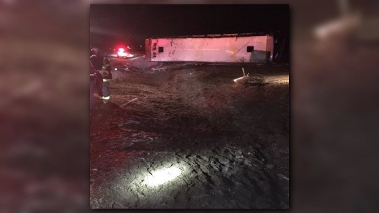 charter bus rollover