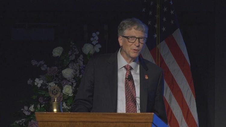 Bill Gates celebrates successes in work to eradicate polio