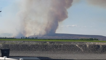 Central Washington wildfire grows to 7,800 acres near Mattawa