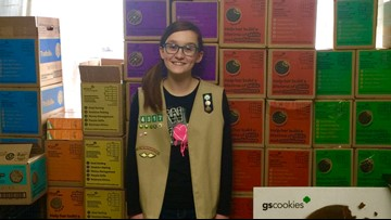 Washington teen hopes to donate 3,000 boxes of Girl Scout cookies to U.S. troops