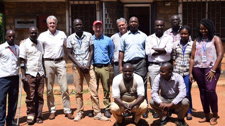 Researchers in Kenya