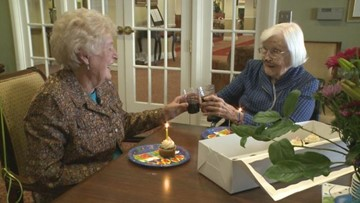 Best friends celebrate 95th birthdays, 84 years of together