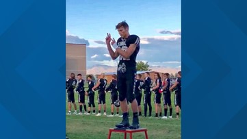 Idaho high school football player signs the national anthem at home game, video goes worldwide