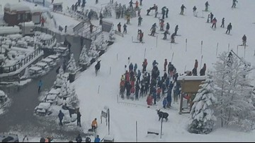 WATCH: Moose runs through skiers near Breckenridge lift line