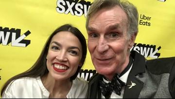 Bill Nye makes surprise appearance at Alexandria Ocasio-Cortez SXSW talk
