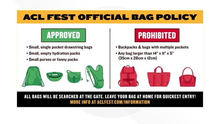 ACL 2019 bag policy