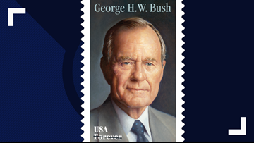 Postal Service reveals new Forever stamp honoring former President George H.W. Bush