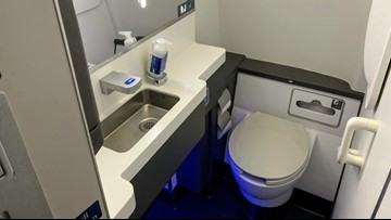 New rule could mean bigger bathrooms on some airplanes