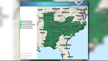 Alberto after landfall: Threat of heavy rains, flooding
