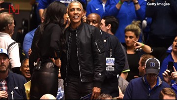 Barack Obama's Fashionable 'O-bomber' Jacket At Duke-UNC Game Causes Social Media Stir