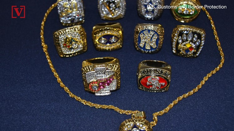 They Look Real! But These Fake Professional Sports Rings Were Seized at JFK