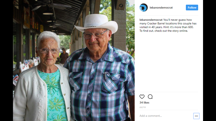 <p>The front porch rocking chairs, souvenir shop and country-style cooking are all reasons why Cracker Barrel is beloved throughout the United States. But none might love the old country store more than Ray and Wilma Yoder.</p>